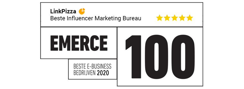 LinkPizza #1 influencer marketing bureau in de Emerce 100
